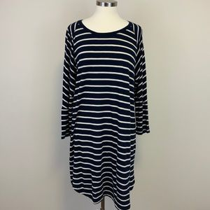 Madewell Navy White Striped Jersey Dress XL